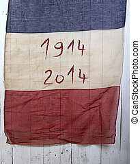 anniversary french flag - antique french flag write 1914...