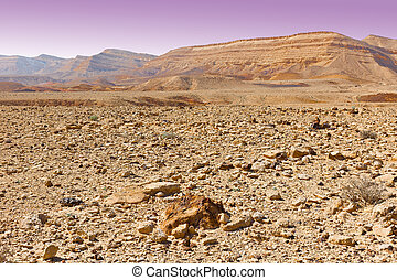Negev - Stones of Grand Crater in Negev Desert, Israel