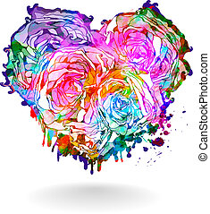 Abstract heart. Vector illustration, EPS 10 - Abstract...