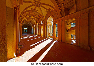 Loggia - Interior of the Templar Castle in the Portugal City...