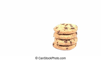 Cookies Being Eaten - Time Lapse Stock Video Footage of...