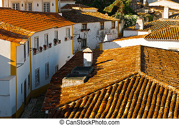 Historic Center - View to Historic Center City of Obidos,...