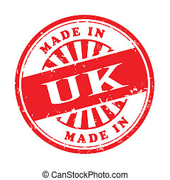 made in UK grunge rubber stamp