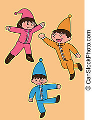 three fairy Vector cartoon