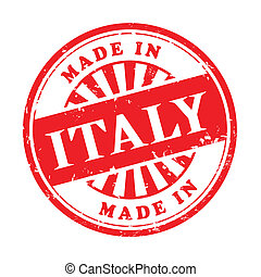 made in Italy grunge rubber stamp - illustration of grunge...