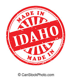 made in Idaho grunge rubber stamp - illustration of grunge...