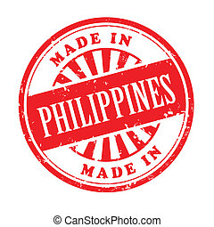 made in Philippines grunge rubber stamp