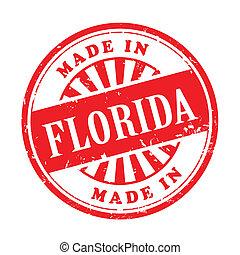 made in Florida grunge rubber stamp - illustration of grunge...