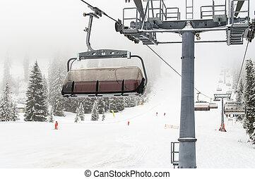 Ski Lift Austria - Ski Lift in Dachstein Gossau Ski Resort.