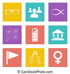 Color icons for Web Design set 33 - Color icons for Web...