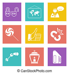 Color icons for Web Design set 35 - Color icons for Web...