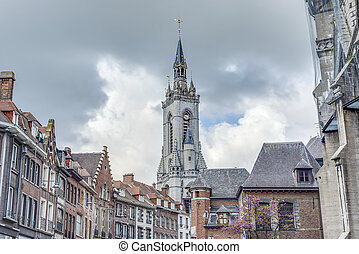 The belfry (French: beffroi) of Tournai, Belgium - The...