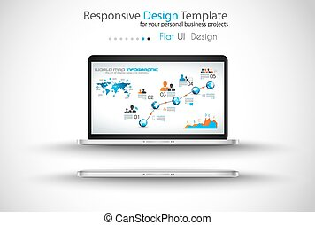 Modern devices mockups fpr your business projects....
