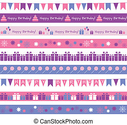 Birthday borders - Set of different borders for birthday...
