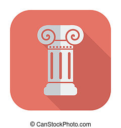 Column single icon. - Column. Single flat color icon. Vector...