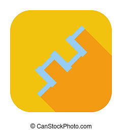 Crankshaft single icon. - Crankshaft. Single flat color...