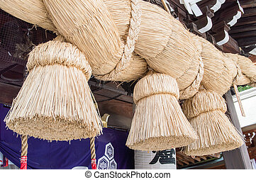 Kushida Shrine Rope - Rice straw rope used for purification...