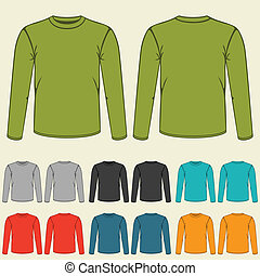 Set of templates colored sweatshirts for men