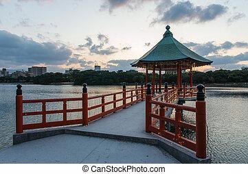 pagode,  ohori, parque