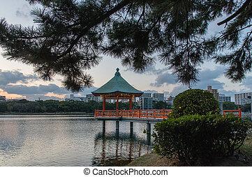 Ohori Park Pagoda - Pagoda in Ohori Park Fukuoka - Japan