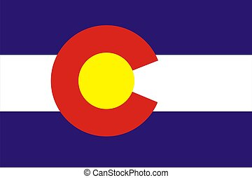 Colorado flag - Very large 2d illustration of Colorado flag...