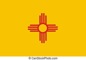 New Mexico Flag - Very large 2d illustration of New Mexico...