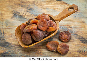 sun dried Turkish apricots - a pile of sun dried Turkish...