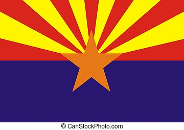 Arizona Flag - Very large 2d illustration of Arizona flag