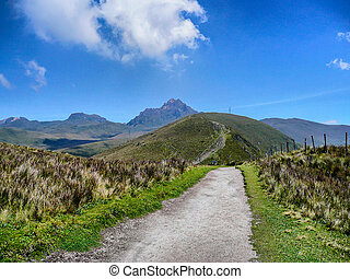 Rural Road - Rural road in the mountains near Quito, Equador