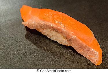 Salmon Sushi ( Sake Nigiri )