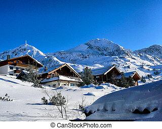 Chalets in Austrian Ski Resort. Typical housing in Austria...