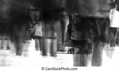 A Crowd of People Walking - Stock Video Footage of a Crowd...
