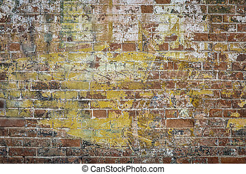 graffiti brick wall - background texture of a grunge brick...