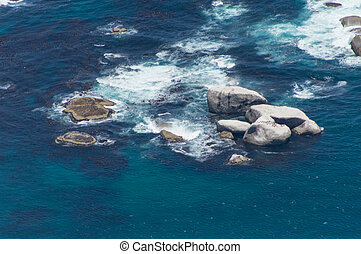 rock Formation - Rock Formation in the sea, Cape Town South...