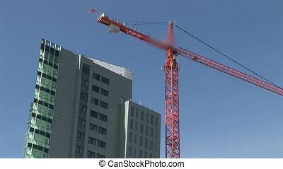 Time Lapse of Crane at Work - N.B. - Logo is Blurred on...