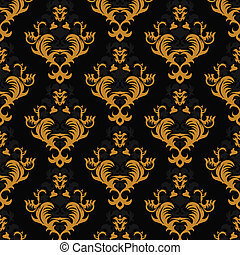 Floral vintage background, pattern