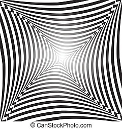 Abstract op art background - Illusion of space distortion...