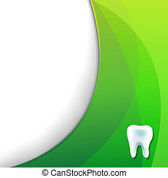 Green Wallpaper With Tooth, With Gradient Mesh, Vector...