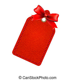 Red Sale Tag With Red Bow