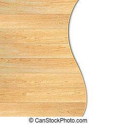 Wood Poster, With Gradient Mesh, Vector Illustration