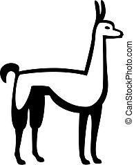 Llama - stylized llama standing