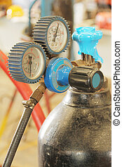 Gas Meter - This is the valve cylinder head in factory