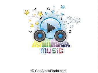 music logo - simple logo for music