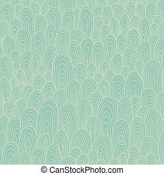 Seamless hand-drawn abstract pattern Endless texture in warm...