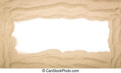 Beach sand scattering isolated on white background