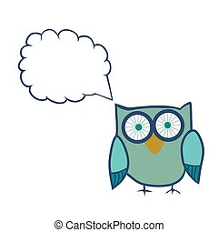 Cute Decorative Owl, vector illustration. Lacy bird.