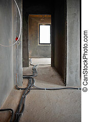 House under construction and repair at home Electricity...