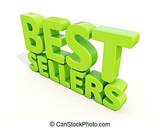 3d best sellers - Best sellers icon on a white background 3D...