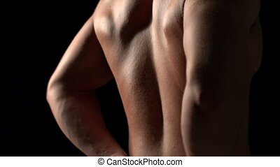Exposing Results - Tilt up of masculine back muscles