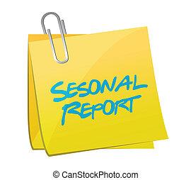 seasonal report post illustration design over white